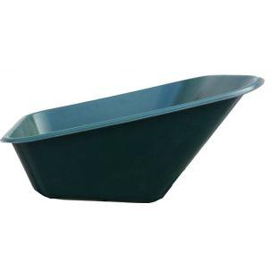 Korba kolečka plast 140 l zelená